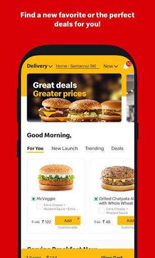 McDelivery- McDonaldu2019s India: Food Delivery App 10.51 Screenshots 4