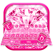 Pink Sparkle Diamond Keyboard Theme