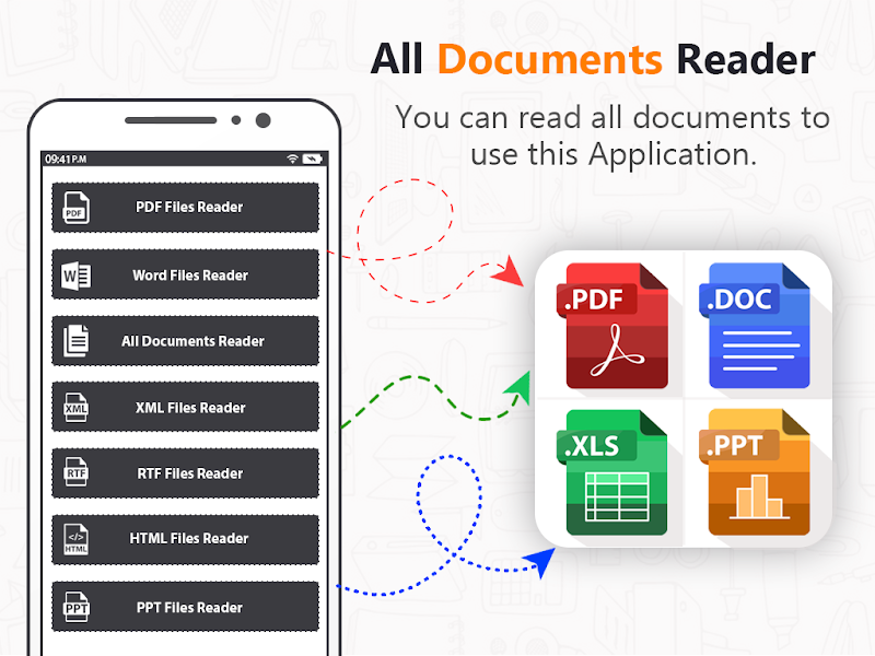 All Office File Reader: PDF, PPT, DOC, XLSX Reader