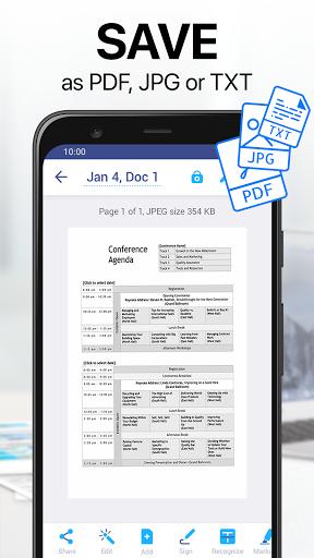 PDF Scanner App - Scan Documents with iScanner apktram screenshots 2