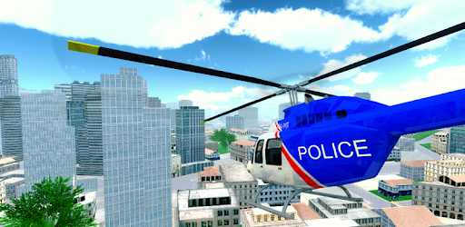 Screenshot of Police Helicopter City Flying