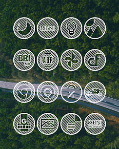 Lines Circle APK White Icon Pack [PAID] Download New Version 6