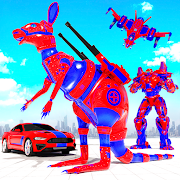 Grand Kangaroo Robot Car Transformation Robot Game