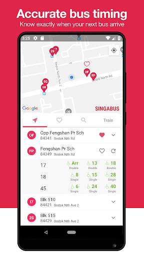 singabus - singapore bus timing + mrt app sg screenshot 1