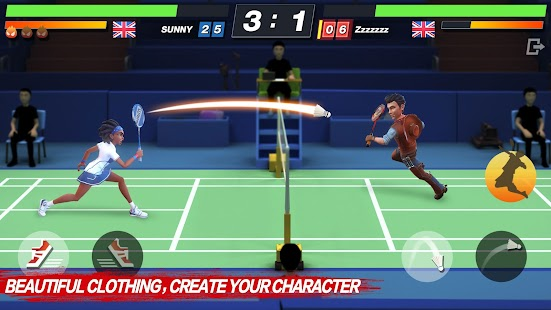 Badminton Blitz - Free PVP Online Sports Game Screenshot