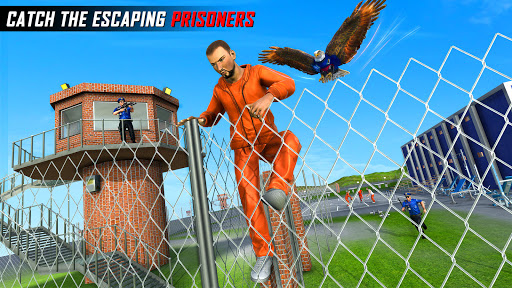 Flying Police Eagle Gangster Crime Shooting Game android2mod screenshots 5