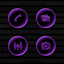 Dark Space Rusted Purple Icons Download on Windows