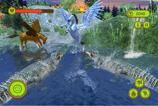 Flying Unicorn Horse Family Jungle Survival apkpoly screenshots 3
