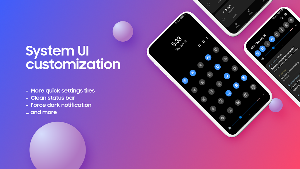 Complete One UI - Substratum System Mods  poster 1