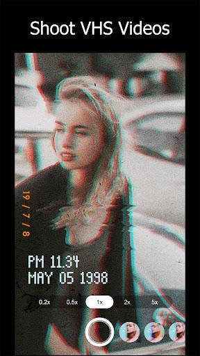 90s - glitch vhs & vaporwave video effects editor screenshot 1