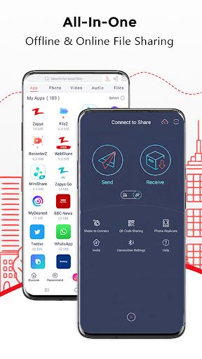 Download Zapya - File Transfer, Share Apps & Music Playlist 5.10.6 (US) screenshots 1