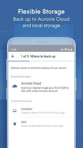 Acronis True Image: Mobile screenshots 2