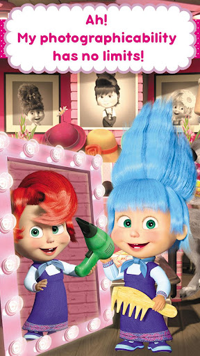 Masha and the Bear: Hair Salon and MakeUp Games apkpoly screenshots 7
