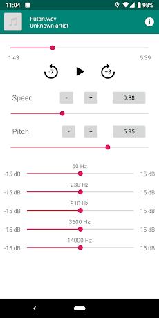 Nu-Music Player 〜 楽曲のスピード/ピッチ変更のおすすめ画像2