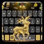 Golden Reindeer Elf Keyboard