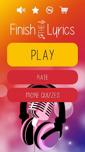 Finish The Lyrics - Free Music Quiz App 4.1.0 screenshots 1