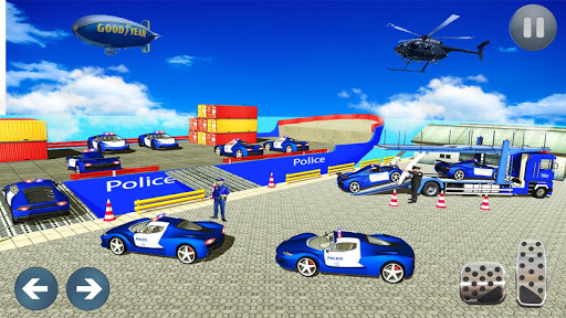 Police Car Transporter 3d: City Truck Driving Game 3.0 screenshots 6
