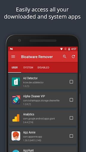 Bloatware Remover FREE [Root] 1.3.2.0 Screenshots 2