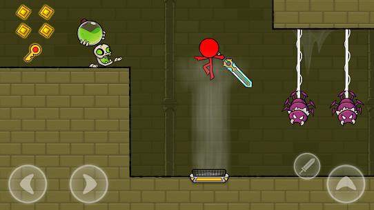Kırmızı Çöp Adam: Animasyon vs Çöp Adam Dövüşü Apk İndir **2021* 3