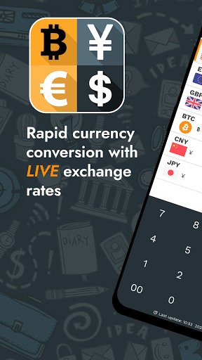 Currency Converter - Money & Crypto Exchange Rates  screenshots 1