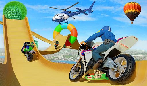 Police Bike Stunt GT Race Game Apkfinish screenshots 8