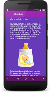 Baby Sleep 🍼 White noise lullabies for newborns Screenshot