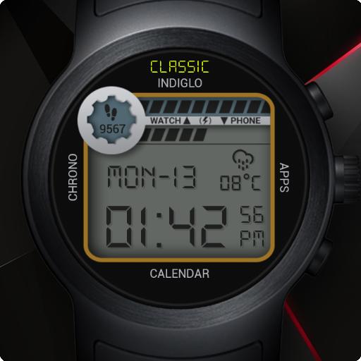 Retro Digital Watch Face & Clock Live Wallpaper