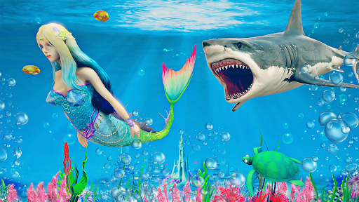 Mermaid Simulator 3D - Sea Animal Attack Games  screenshots 1