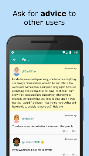 Friend Shoulder: Advice and Vent Anonymous - chat 1.12.9 Screenshots 3