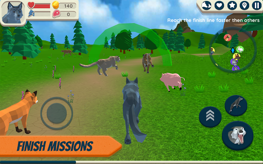 Wolf Simulator: Wild Animals 3D APK MOD – Pièces de Monnaie Illimitées (Astuce) screenshots hack proof 2