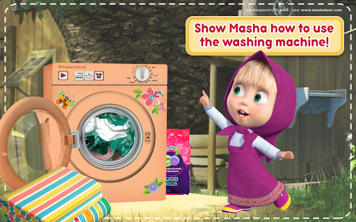 Masha and the Bear: House Cleaning Games for Girls 2.0.0 screenshots 13
