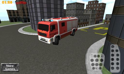 3d firefighter parking screenshot 1