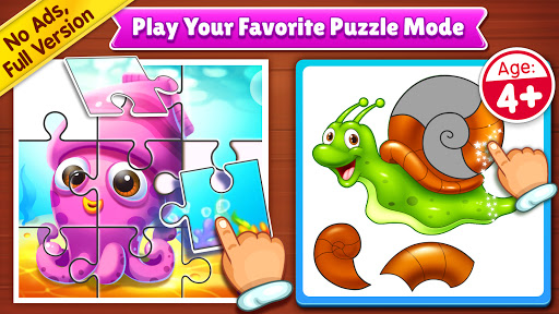 Puzzle Kids - Animals Shapes and Jigsaw Puzzles apktreat screenshots 1