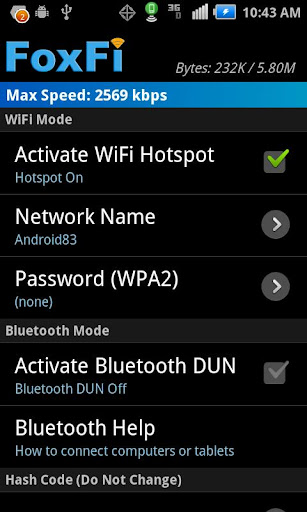 FoxFi (WiFi Tether w/o Root) 2.20 Screenshots 1