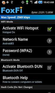 FoxFi (WiFi Tether w/o Root) Screenshot