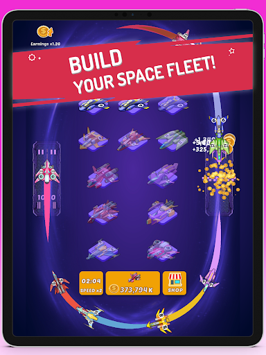 Merge Spaceships - Best Idle Space Tycoon modavailable screenshots 1