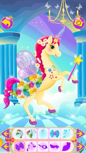 Unicorn Dress Up - Girls Games apkslow screenshots 12