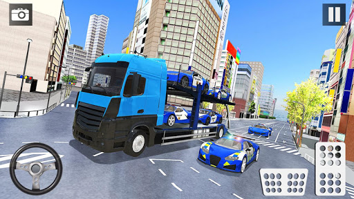 Police Car Transporter 3d: City Truck Driving Game 3.0 screenshots 4