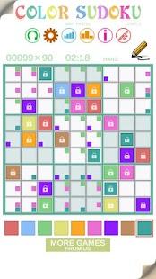 Color Sudoku Mint Pastel Screenshot