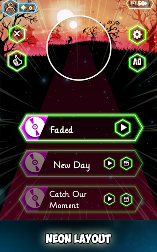 Neon Tiles Hop Color Ball : Forever Dancing Ball 1.5 screenshots 6