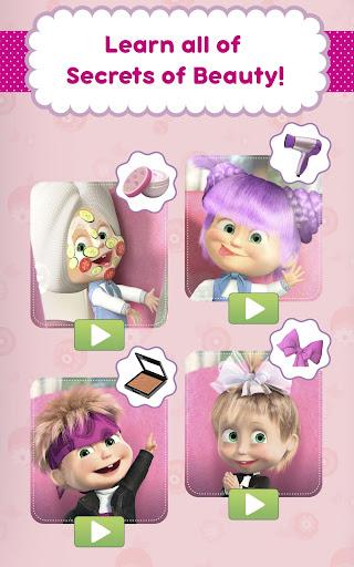 Masha and the Bear: Hair Salon and MakeUp Games apkpoly screenshots 9