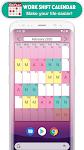 screenshot of Work Shift Calendar