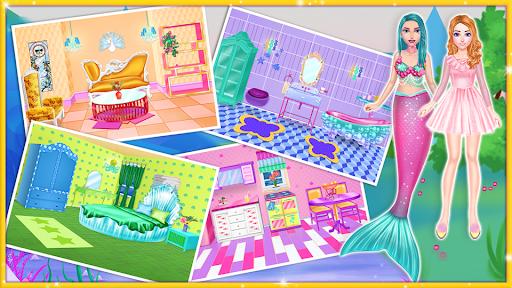 Télécharger Gratuit Princess & Mermaid Doll House Decorating APK MOD (Astuce) screenshots 2