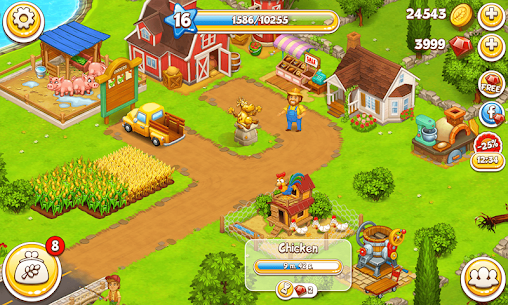 Farm Town Mod Apk: Happy farming Day (Unlimited Gold) Download 8