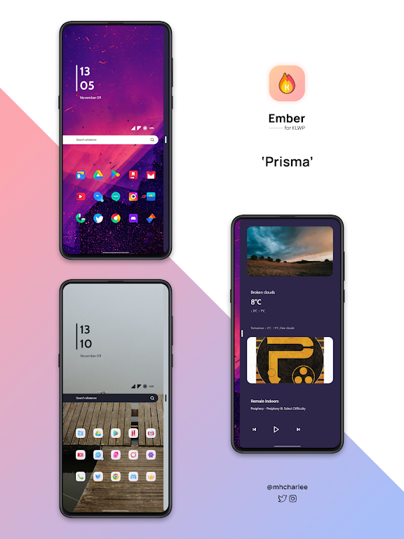 Ember for KLWP  poster 1