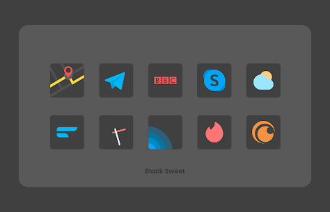 Black Sweet APK- Icon Pack (PAID) Download Latest Version 5