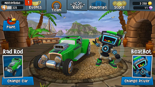 Code Triche Beach Buggy Racing 2 (Astuce) APK MOD screenshots 4