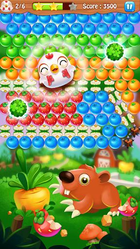 Chicken pop - Fruits bubble splash 1.0.7 screenshots 2