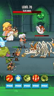 Semi Heroes 2: Schermata del gioco offline RPG di battaglia senza fine