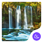 waterfall nature scene -APUS Launcher theme